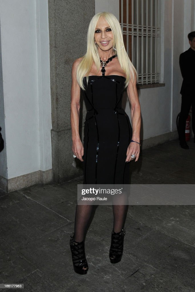 Donatella Versace attends The Haas Bothers For Versace Home on April 9, 2013 in Milan, Italy.