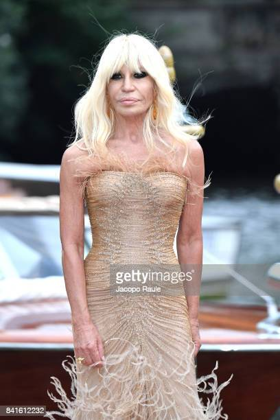 Donatella Versace is seen during the 74 Venice Film Festival on September 1 2017 in Venice Italy