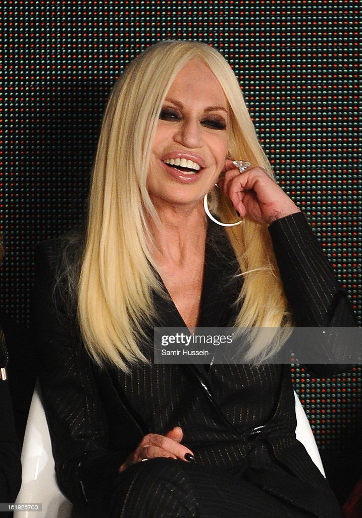 Donatella Versace judges the International Woolmark Prize Grand Final at the ME hotel during London Fashion Week Fall/Winter 2013/14 on February 16, 2013 in London, England.