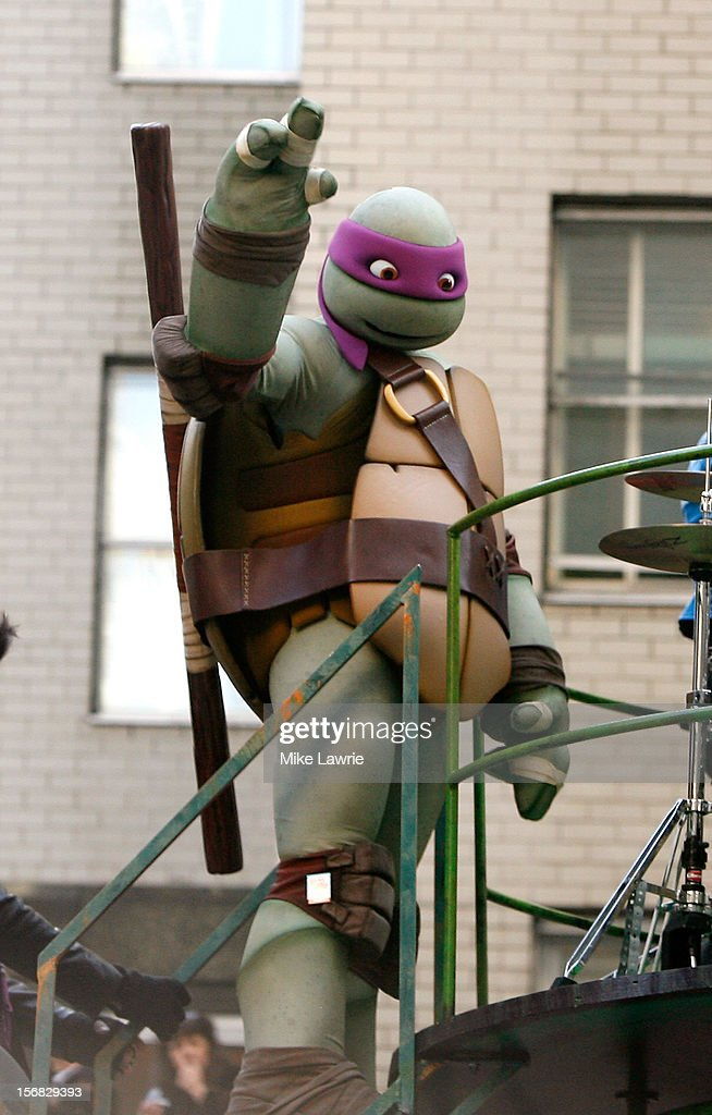 Donatello of the Teenage Mutant Ninja Turtles is seen on their float during the 86th Annual Macy's Thanksgiving Day Parade on November 22, 2012 in New York City.