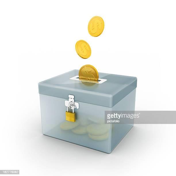 Spende box oder speichern