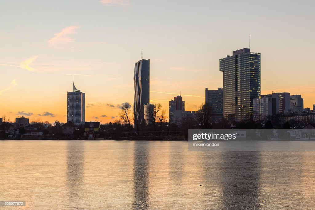 Donaucity in Vienna in the Winter : Stock Photo