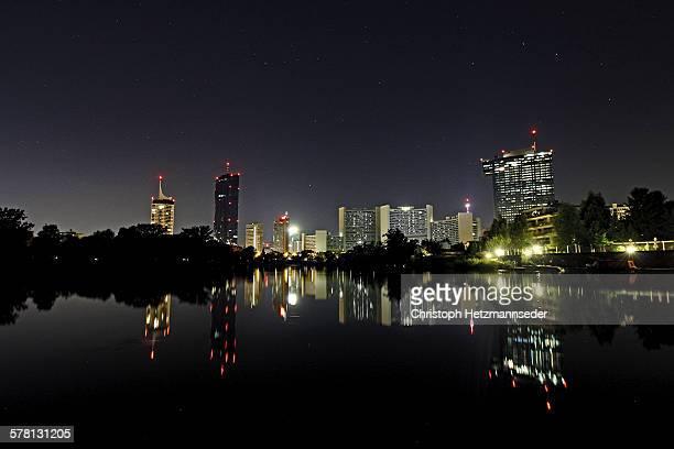 Donaucity Vienna at night