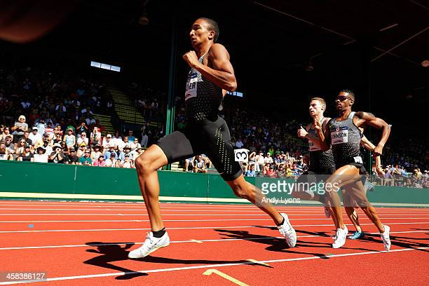 Donavan Brazier runs in the first round of the Men's 800 Meter during the 2016 US Olympic Track Field Team Trials at Hayward Field on July 1 2016 in...