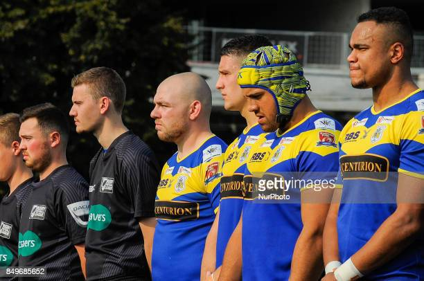 Doncaster team pose before the Super 8s Round 7 game between Toronto Wolfpack vs Doncaster RLFC at Allan A Lamport Stadium in Toronto Canada on 16...
