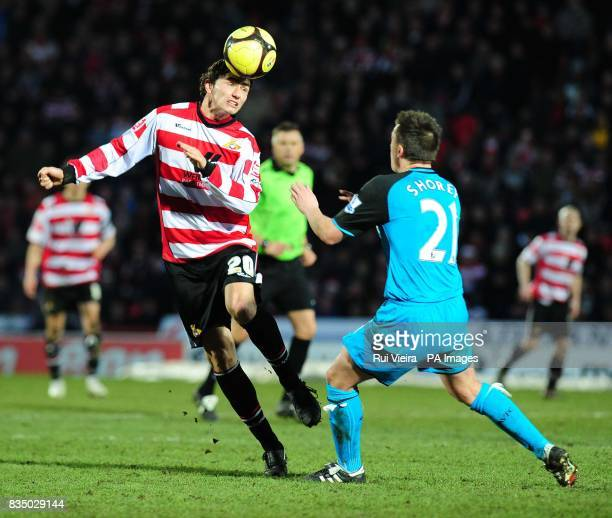 Doncaster's John Spicer during the FA Cup Fourth Round at Keepmoat Stadium Doncaster