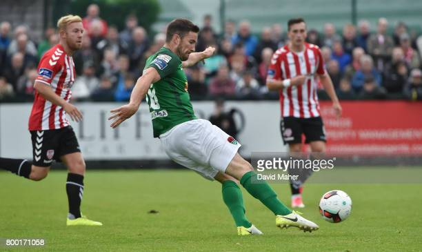 Donegal Ireland 23 June 2017 Gearoid Morrissey of Cork City shoots to score his side's second goal during the SSE Airtricity League Premier Division...