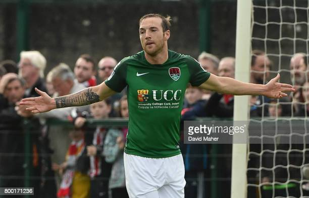 Donegal Ireland 23 June 2017 Karl Sheppard of Cork City celebrates after scoring his side's first goal during the SSE Airtricity League Premier...