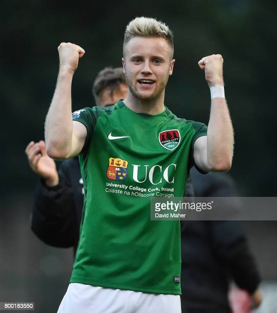 Donegal Ireland 23 June 2017 Kevin O'Connor of Cork City celebrates at the end of the SSE Airtricity League Premier Division match between Derry City...