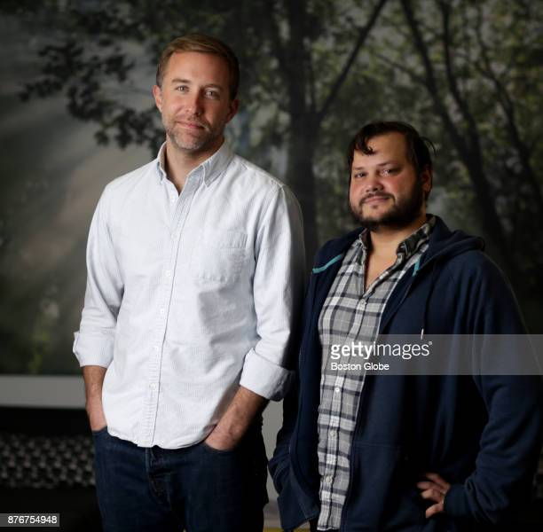 DoneGood cofounder Cullen Schwarz left and Vice President of Data Science Peter Kruskal pose for a portrait in Somerville MA on Nov 15 2017 The tech...