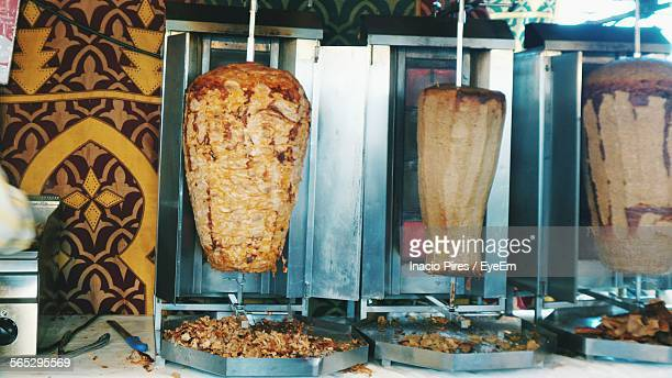 Doner Kebab Being Grilled