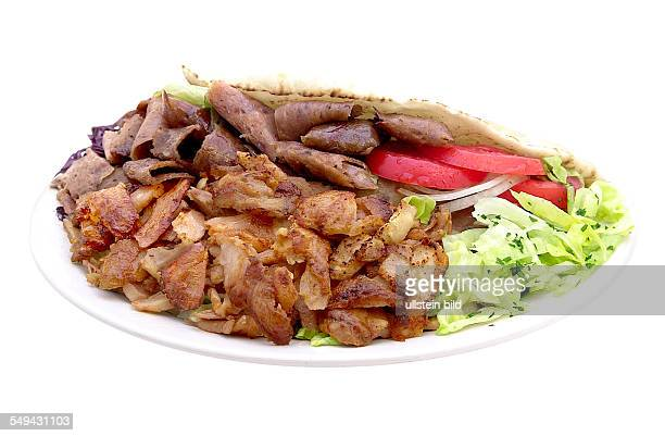 A doner with chicken and beef