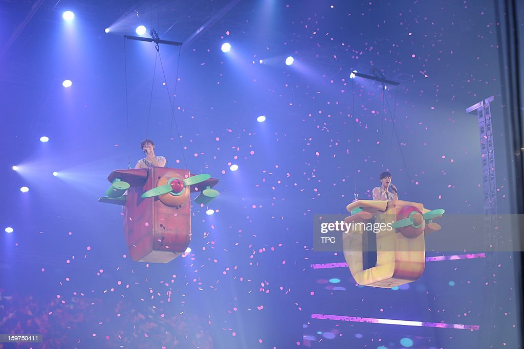 Dong Bang Shin Ki held concert 'TVXQ! LIVE WORLD TOUR 'Catch Me''on Saturday January 19,2013 in Hong Kong, China.