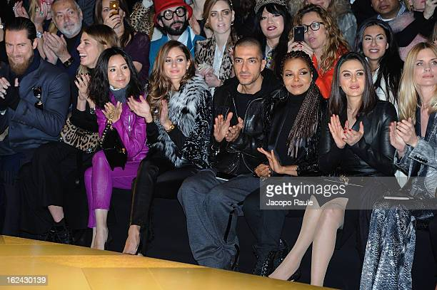 Dong Jie Olivia Palermo Wissam al Mana Janet Jackson Preity Zinta Filippa Lagerback and guests attend the Roberto Cavalli fashion show as part of...