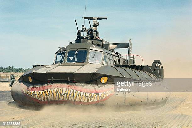 Dong Tam So Vietnam The Navys new Patrol Air Cushion Vehicle is demonstrated capable of speeds of 4050 knots the craft will be used for riverine...