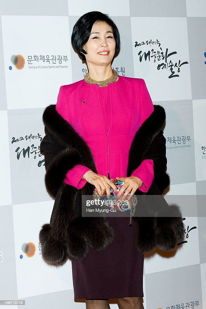 Dongduk Women's University Professor & model Kim Dong-Su attends during the 2012 Korea Popular Culture Art Awards at Olympic Hall on November 19, 2012 in Seoul, South Korea.