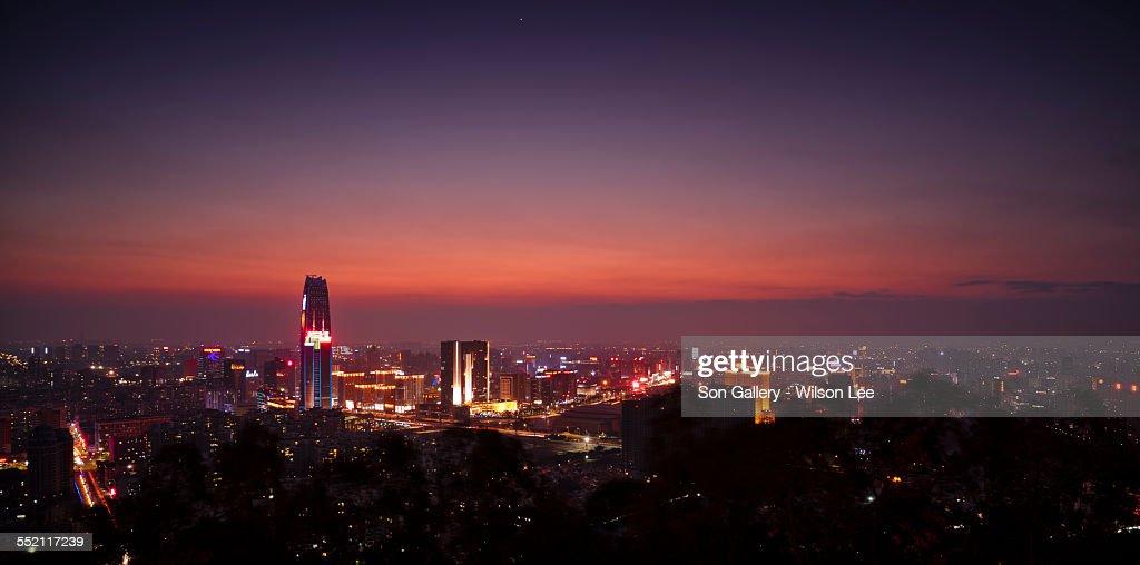 Dongguan City at evening