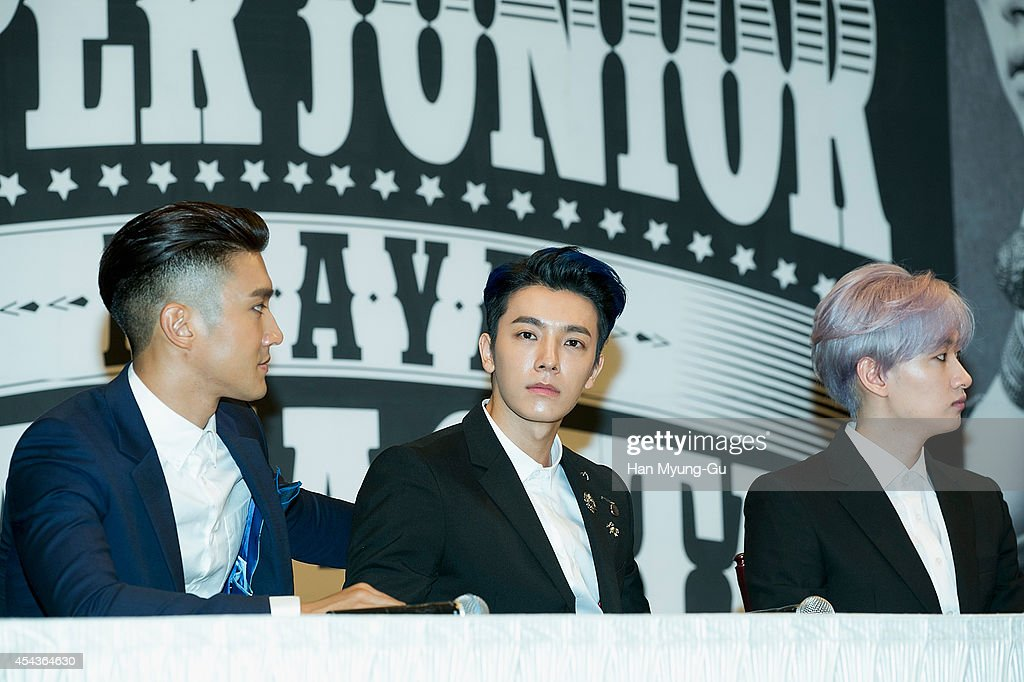 Donghae-si South Korea  City pictures : Donghae C of South Korean boy band Super Junior attends the press ...