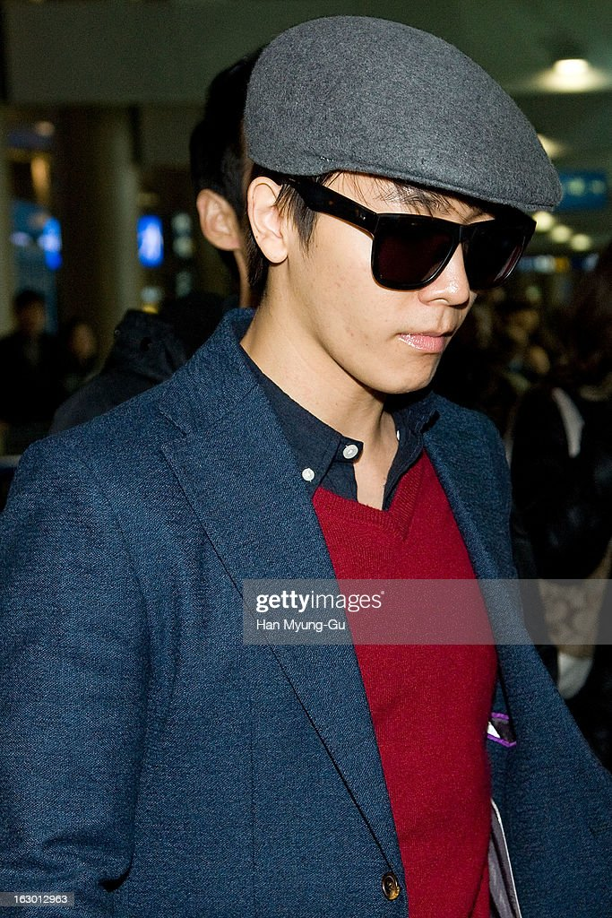Donghae of South Korean boy band Super Junior M is seen upon arrival from China at Incheon International Airport on March 3, 2013 in Incheon, South Korea.
