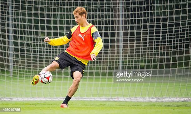 DongWon Ji of Borussia Dortmund during a training session on August 1 2014 in Bad Ragaz Switzerland