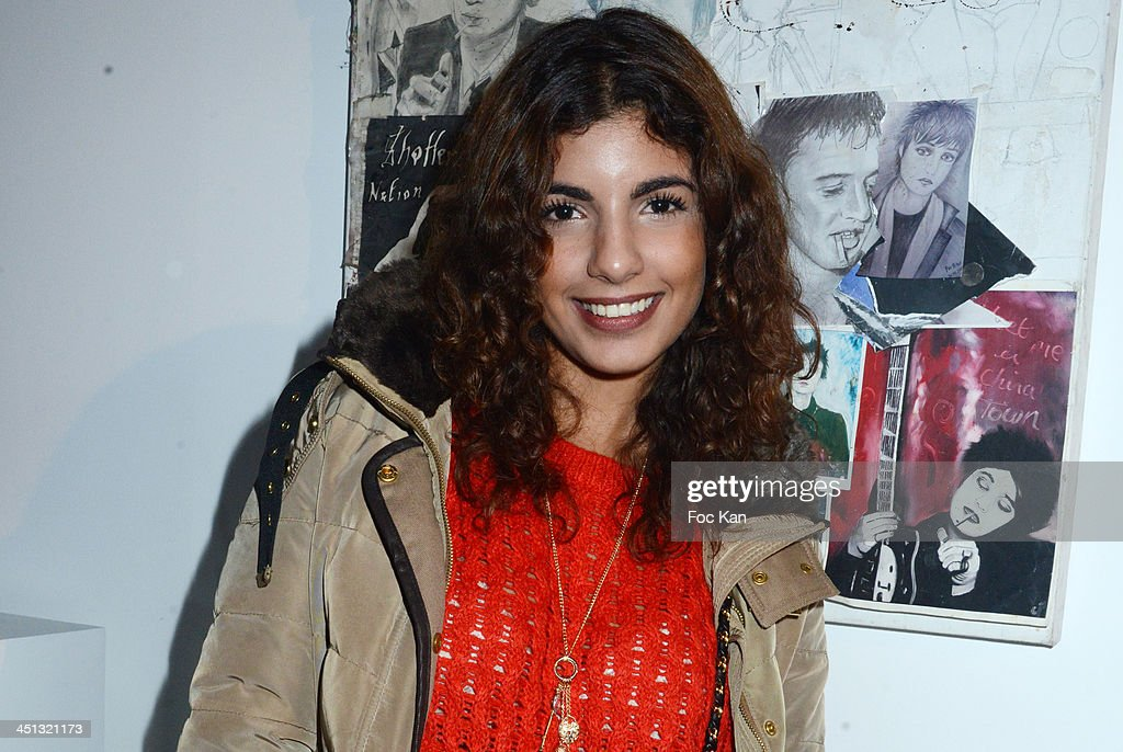 Donia Eden attends the 'Flags From The Old Regime' : Pete Doherty and Alize Meurisse Paintings Exhibition Preview At Espace Djam on November 21, 2013 in Paris, France.