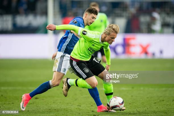 Donis Avdijaj of FC Schalke 04during the UEFA Europa League quarter final match between Schalke 04 and Ajax Amsterdam on April 20 2017 at the...