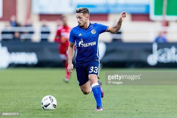 Donis Avdijaj of Schalke in action during the friendly match between FC Schalke 04 v KV Oostende Friendly Match at Estadio Municipal Guillermo Amor...