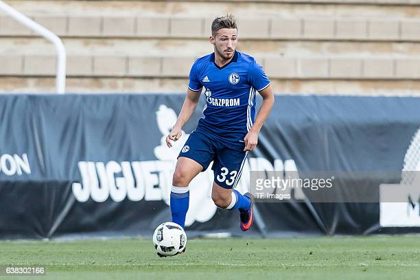 Donis Avdijaj of Schalke in action during the friendly match between FC Schalke 04 v KV Oostende Friendly Match at Estadio Municipal Guillermo Amor...