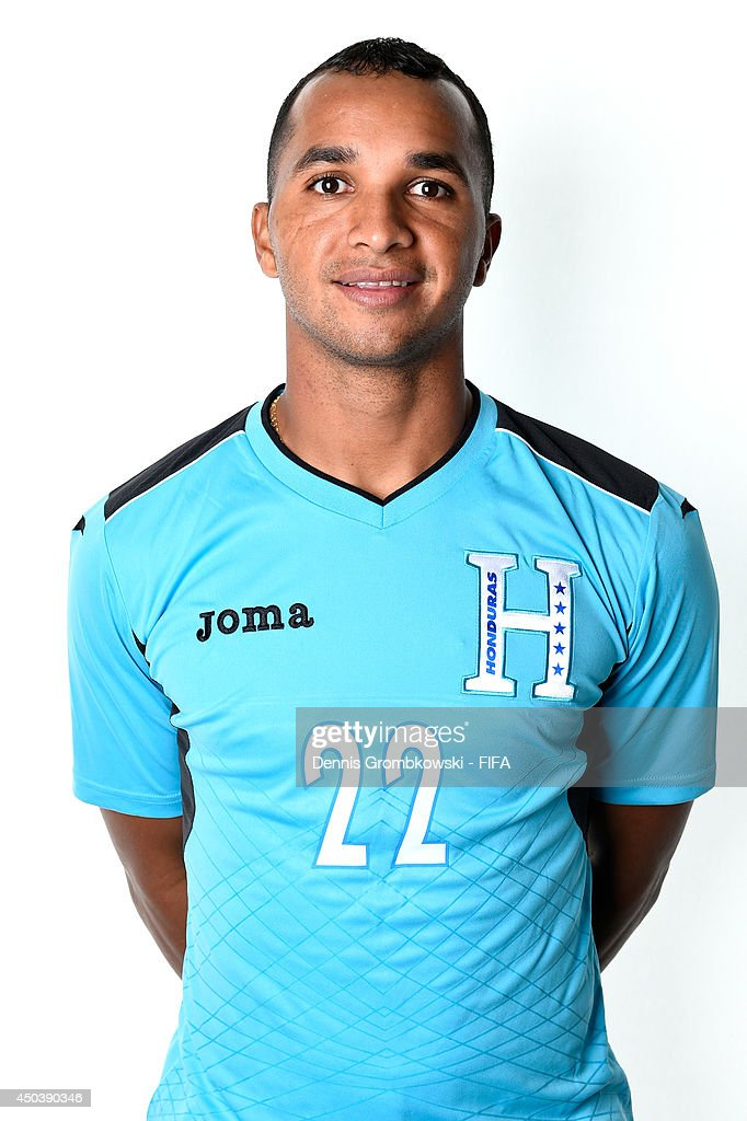 Donis Escober of Honduras poses during the Official FIFA World Cup 2014 portrait session on June 10, 2014 in Porto Feliz, Brazil.