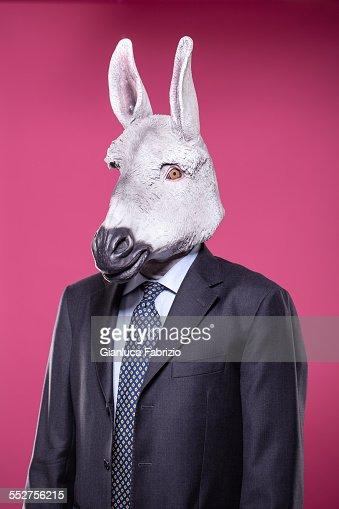 Donkey businessman