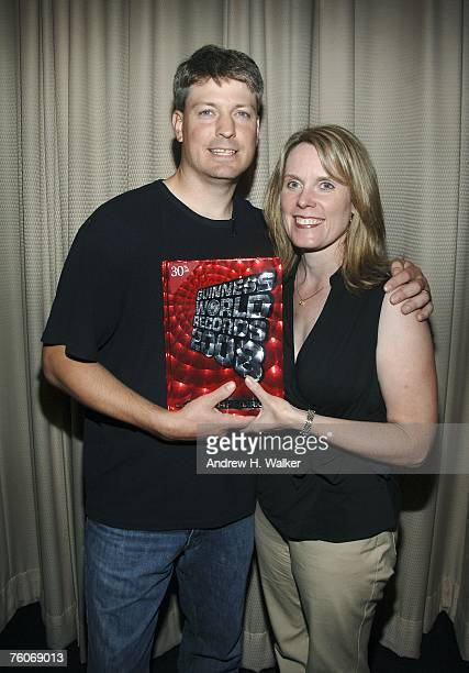 Donkey Kong star Steve Wiebe and his wife Nicole Wiebe attend the screening of Picturehouse's 'The King of Kong A Fistful of Quarters' at the Museum...