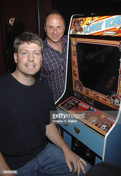 Donkey Kong star Steve Wiebe and Picturehouse president Bob Berney attend the screening of Picturehouse's 'The King of Kong A Fistful of Quarters' at...
