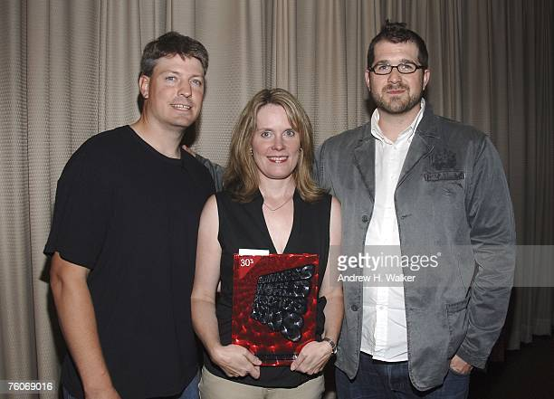 Donkey Kong star Steve Wiebe his wife Nicole Wiebe and director Seth Gordon attend the screening of Picturehouse's 'The King of Kong A Fistful of...