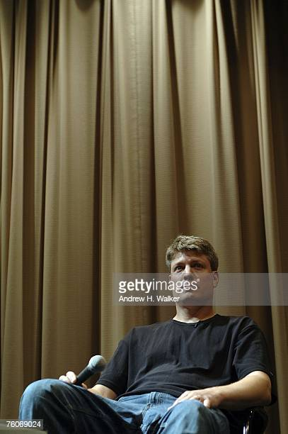 Donkey Kong star Steve Wiebe participates in a QA at the screening of Picturehouse's 'The King of Kong A Fistful of Quarters' at the Museum of the...