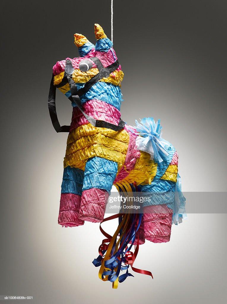 Donkey pinata on string : Stock Photo