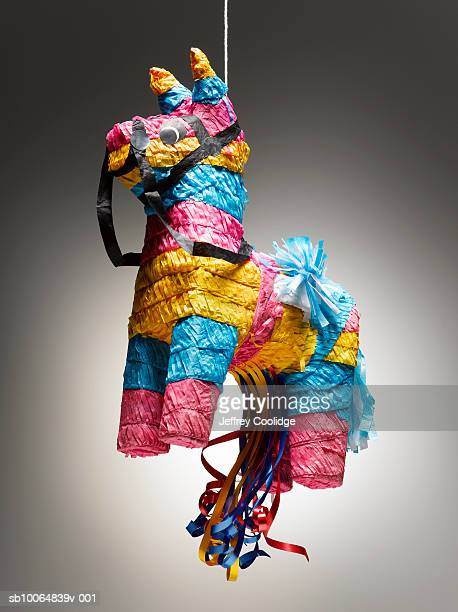 Donkey pinata on string