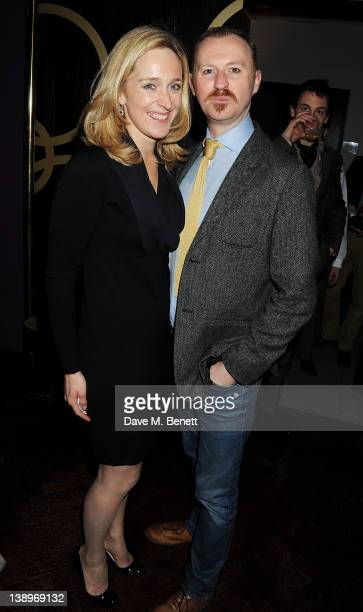 Donmar executive producer Kate Pakenham and cast member Mark Gatiss attend an after party following the press night performance of Donmar Warehouse's...