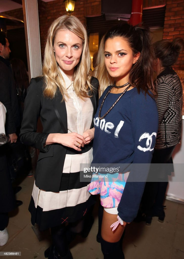 Donna Air and Bip Ling attend the Lululemon launch party to celebrate there first store in UK on April 3 2014 in London England