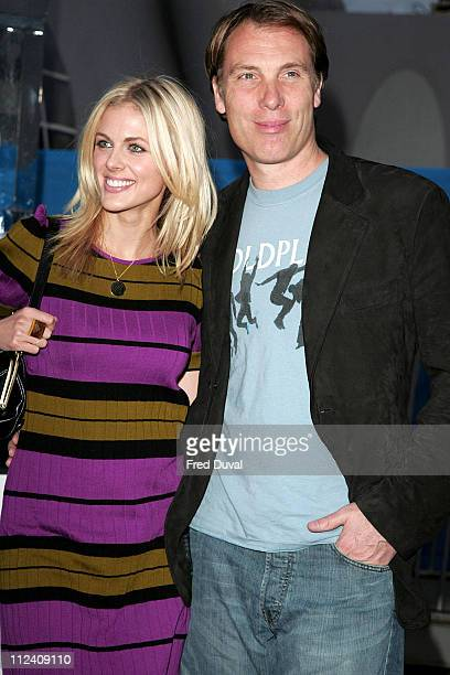 Donna Air and Damian Aspinall during 'Ice Space' Launch Party Outside Arrivals at Tower Bridge in London Great Britain
