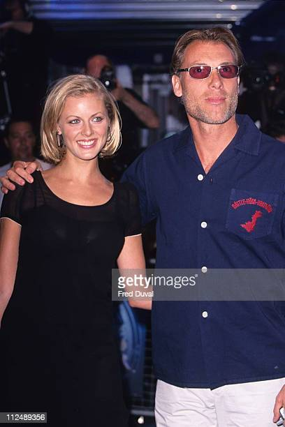 Donna Air and Damian Aspinall during 'Tomb Raider' London Premiere at Empire Leicester Square in London United Kingdom