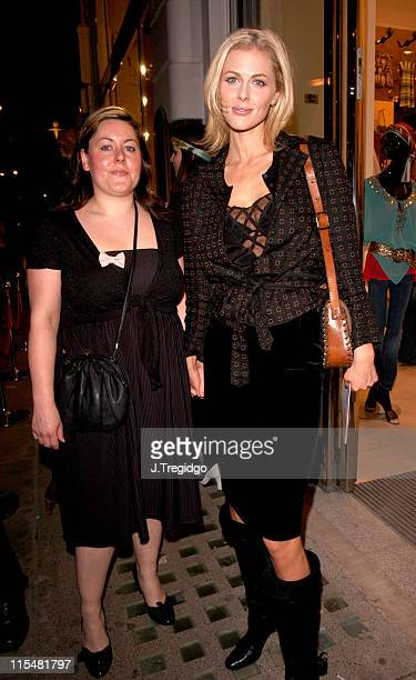 Donna Air and guest during HM Flagship Store Launch Arrivals at HM Knightsbridge in London Great Britain