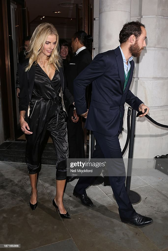 <a gi-track='captionPersonalityLinkClicked' href=/galleries/search?phrase=Donna+Air&family=editorial&specificpeople=209184 ng-click='$event.stopPropagation()'>Donna Air</a> and James Middleton at the UK flagship store launch of J. Crew on November 6, 2013 in London, England.