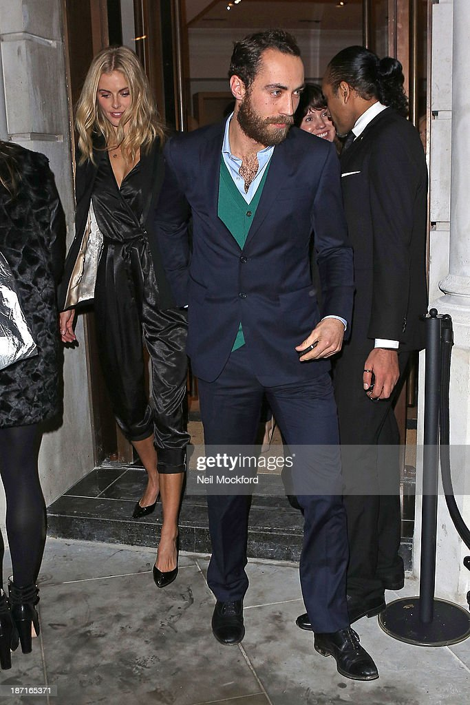 Donna Air and James Middleton at the UK flagship store launch of J. Crew on November 6, 2013 in London, England.