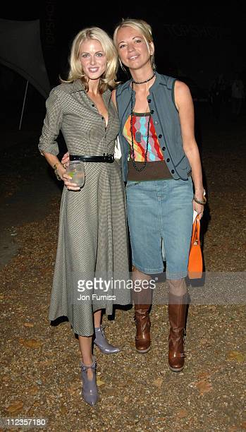 Donna Air and Sara Cox during London Fashion Week Spring/Summer 2006 Unique Front Row and Backstage at Marquee in London Great Britain