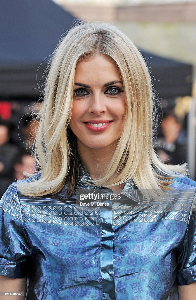Donna Air arrives at the Burberry Prorsum 2013 Autumn Winter Womenswear Show at Kensington Gardens on February 18, 2013 in London, England.