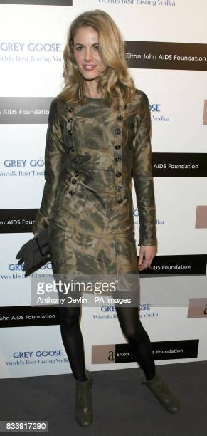 Donna Air arrives at the Grey Goose Vodka and The Elton John AIDS Foundation VIP launch party One Piazza Covent Garden London
