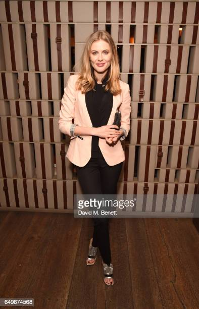 Donna Air attends a party to celebrate the launch of Tara Bernerd's first book with Rizzoli International 'Tara Bernerd Place' and the opening of il...