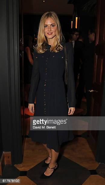Donna Air attends a private dinner hosted by Hikari Yokoyama to celebrate the Harper's Bazaar charity auction with Paddle8 in aid of Women For Women...
