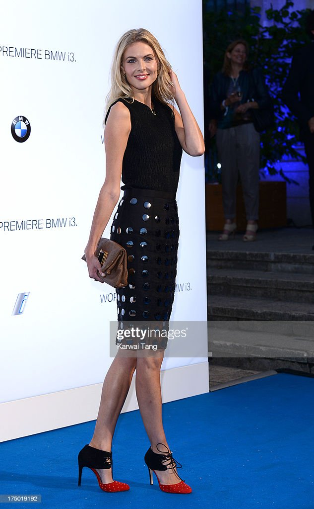 Donna Air attends the BMW i3 global reveal party held at Old Billingsgate Market on July 29, 2013 in London, England.