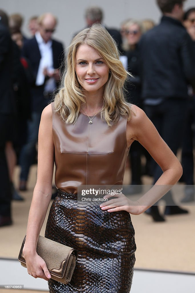 Donna Air attends the Burberry Prorsum show at London Fashion Week SS14 at Kensington Gardens on September 16, 2013 in London, England.